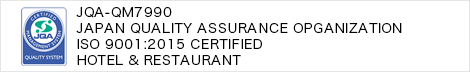 JAPAN QUALITY ASSURANCE OPGANIZATION ISO 9001:2015 Certified Hotel & Restaurant